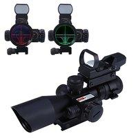 1 x 2.5 10 x 40 Rail Tactical Riflescope Holographic Sight Red Dot Scope Laser Rifle Scope Mira Telescopica Hunting Optics