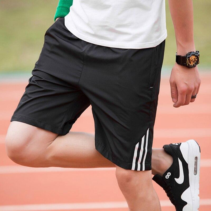 2019 Men's Shorts Three Lines Design Sports Pants Summer Fitness Basic Section Elastic Belt 8XL Size Waistband Running Training