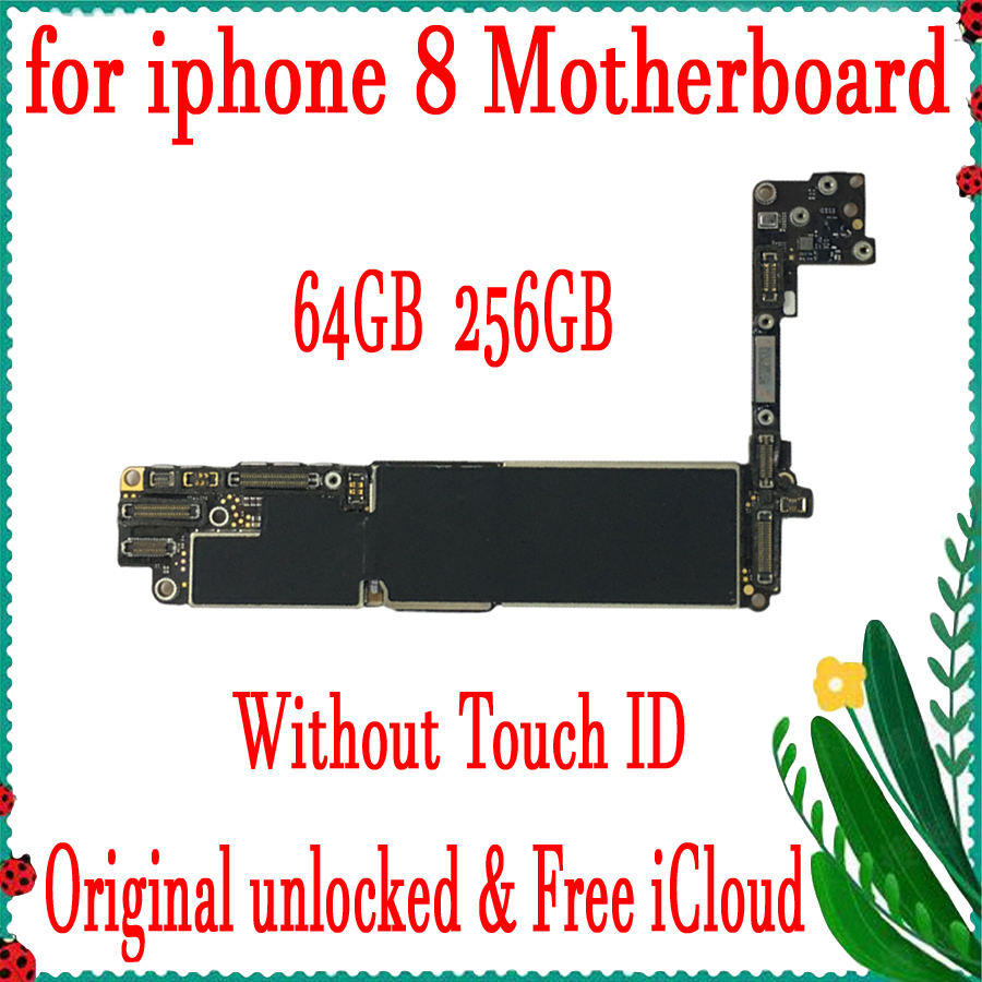 64GB 256GB for iphone 8 Motherboard without Touch ID,Original unlocked for iphone 8 Mainboard with Free iCloud,100% Good Tested64GB 256GB for iphone 8 Motherboard without Touch ID,Original unlocked for iphone 8 Mainboard with Free iCloud,100% Good Tested