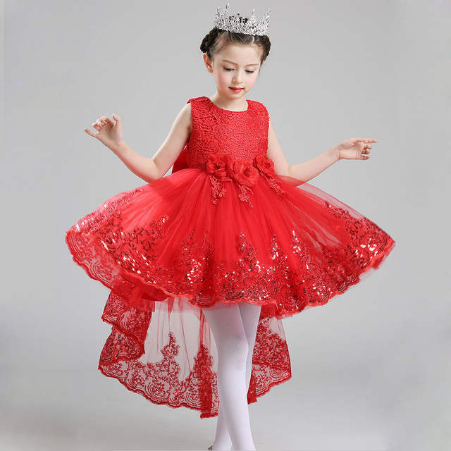 48cf858bd Online Shop 2017 New Year Girls Dresses Girl High Low Wedding Party ...
