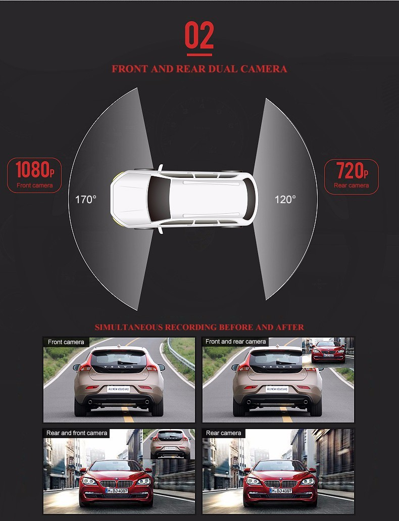 Other Safety & Security Aggressive 4.3 Hd 1080p Dual Lens Car Dvr Rear View Mirror Led Camera Videodriving Recorder