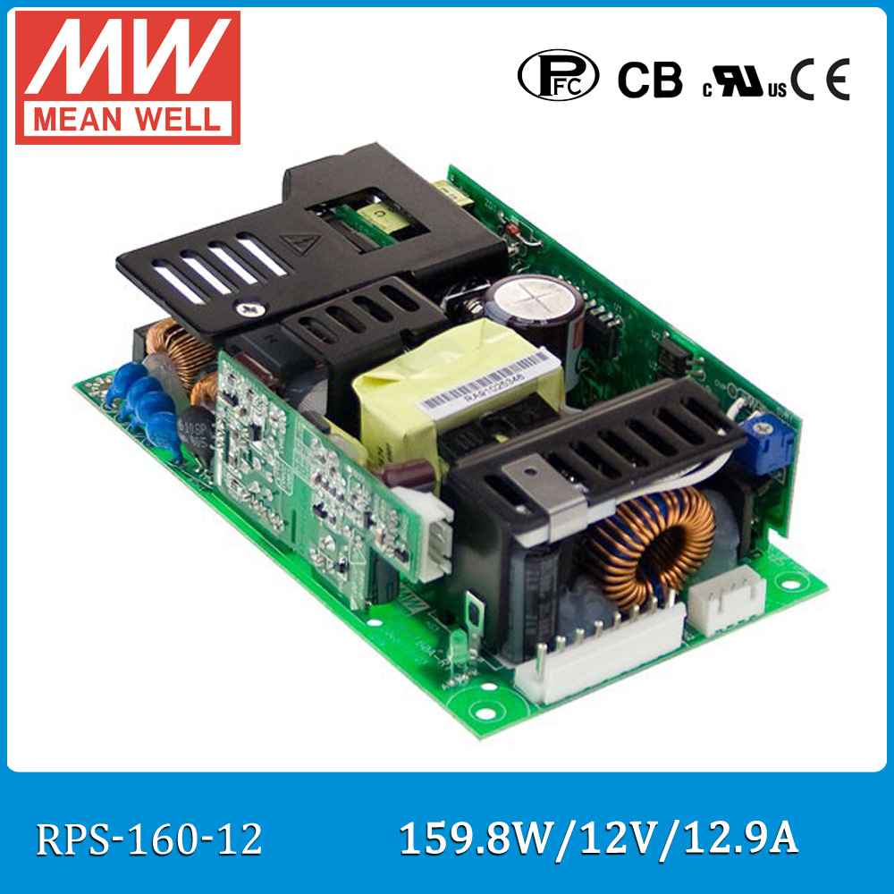 цена на Original Meanwell RPS-160-12 single output 160W 12V 12.9A MEAN WELL medical open frame type power supply RPS-160 PCB type