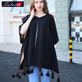 SALUTTO Europe Style Autumn And Winter Fringed Women Scarf From India Luxury Brand Winter Poncho Solid Both Sides Can Wear