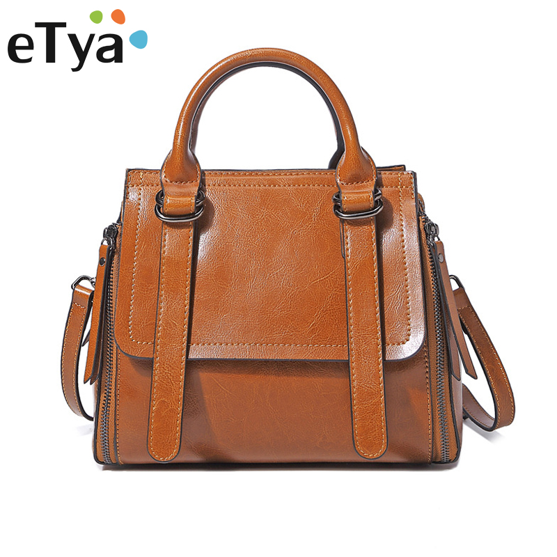 Здесь продается  eTya Women Leather Handbags Fashion Genuine Leather Ladies Handbag Shoulder Bag Casual Solid Tote Crossbody Bags 4 Color  Камера и Сумки