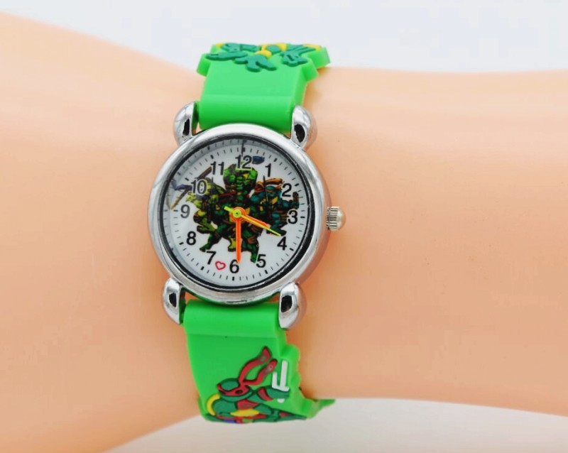 цена на 1pcs/lot Wholesale NEW Cartoon 3D Children Watch Good Gift kids Teenage mutant ninja turtles watch