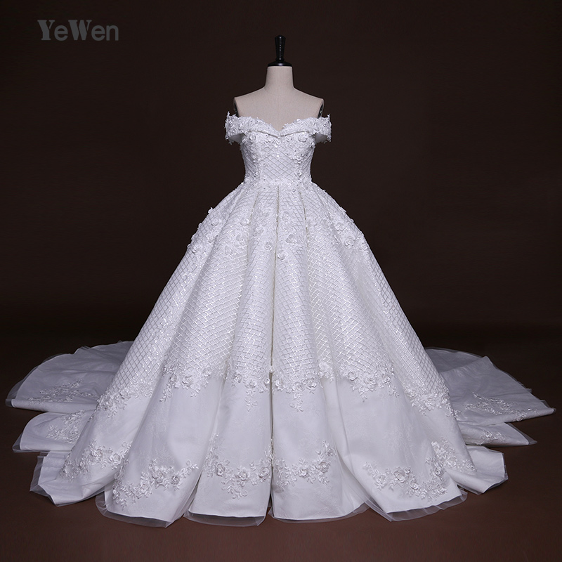Buy 2m cathedral royal train high end for High end wedding dress