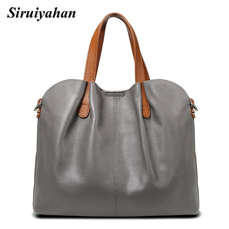 Bag Female Women's Genuine Leather Bags Handbags Crossbody Bags for Women Shoulder Bags Large Capacity Casual Totes Sac a Main women handbags tote bags female genuine leather shoulder bags large capacity office crossbody bag shopping casual handbag sac