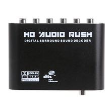 DTS AC3 5.1 CH SPDIF коаксиальный цифровой аудио DTS/AC-3 5.1 аналоговый декодер конвертер RCA Выход адаптер surround звука decorder