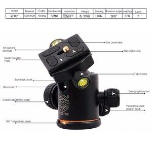 Image 5 - QZSD Q666 Professionale di Magnesio Lega di Alluminio Treppiedi di Macchina Fotografica e Monopiede Per Fotocamere DSLR