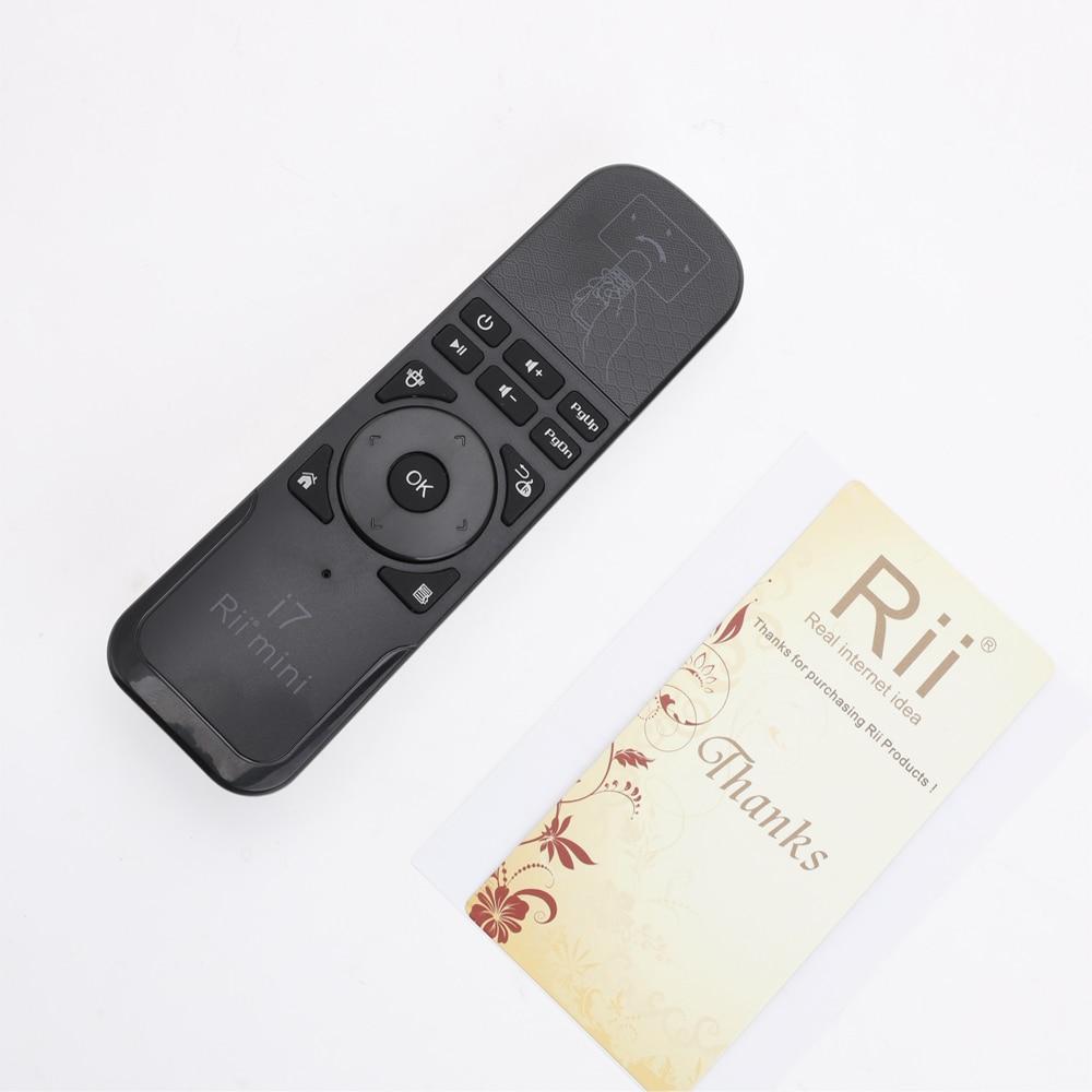 11893455627b4 Original Rii Mini i7 2.4G Sem Fio Fly Air Mouse Controle Remoto ...