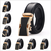 2019 New Men Formal Belts Good Quality Alloy Automatic Buckle Leather Jeans Pants Belts Popular Business Leisure Belt 23 Style