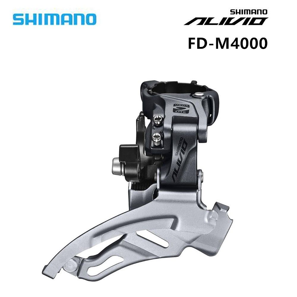 Radient Original Shimano Alivio Fd-m4000 Front Derailleur 31.8/34.9mm 3x9-speed Down Swing/top Swing Cycling