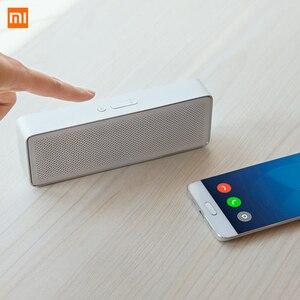 Image 4 - Original xiaomi bluetooth alto falante hd estéreo portátil sem fio caixa quadrada 2 v4.2 1200mah aux linha em mãos livres com microfone