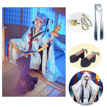 VOCALOID Snow Witch Miku Hatsune Dress Cosplay Costume WIG Shoes God joy bells Outfit Full Set Halloween Adult Costumes