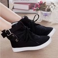 New 2016 spring and summer casual ankle boots fashion lacing canvas shoes for women 18 color plus size 36-40