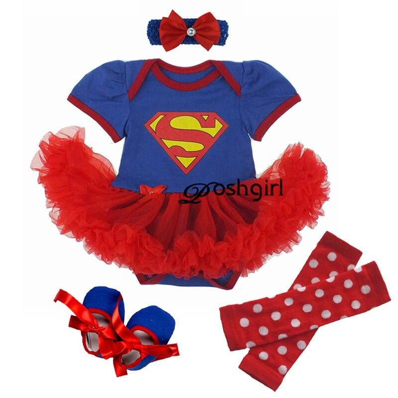 Newborn Baby Girl Clothes Baby Girls Clothing Set Fancy Supergirl Bebe Baby Clothes Set Ruffle Tutu Dress New Born Baby Clothing