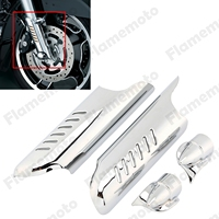 Fork Motorcycle Lower Leg Deflectors Shields Cover For Harley Electra Glides Road Glides Road Kings Street Glid 2000 2013 Chrome
