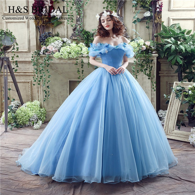 a33f1a8b5b H S BRIDAL Off the Shoulder cinderella quinceanera dresses sweet 16 ball gowns  Prom Dress robe de soiree quinceanera gowns. 13 (1)  13 (2)  13 (3)  13  (4)  ...