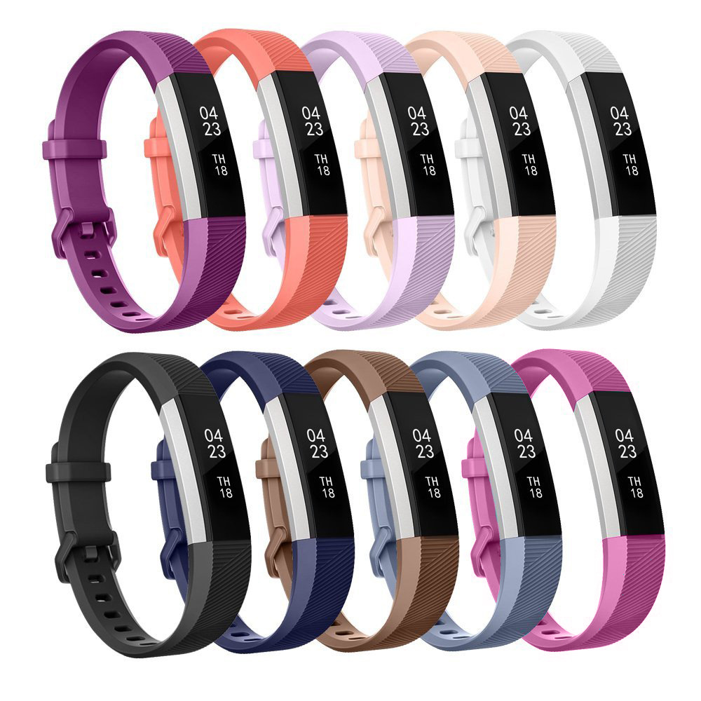 High Quality Soft Silicone Secure Adjustable Band for Fitbit Alta HR Band Wristband Strap Bracelet Watch Replacement Accessories image