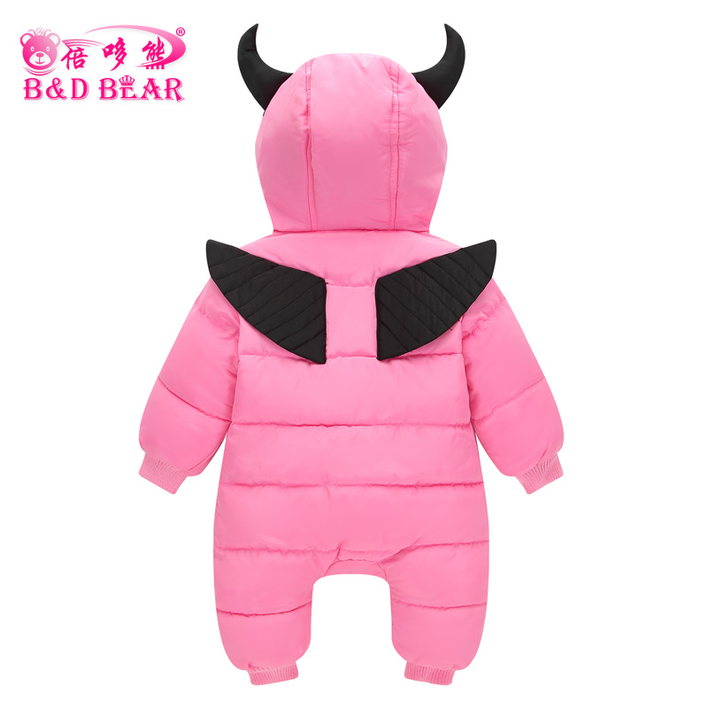 2017 Baby Rompers Winter Jackets for Baby Girls Clothing Spring Autumn Coats Demon Style Overalls for Baby Boys Newborn Clothes cotton baby rompers set newborn clothes baby clothing boys girls cartoon jumpsuits long sleeve overalls coveralls autumn winter