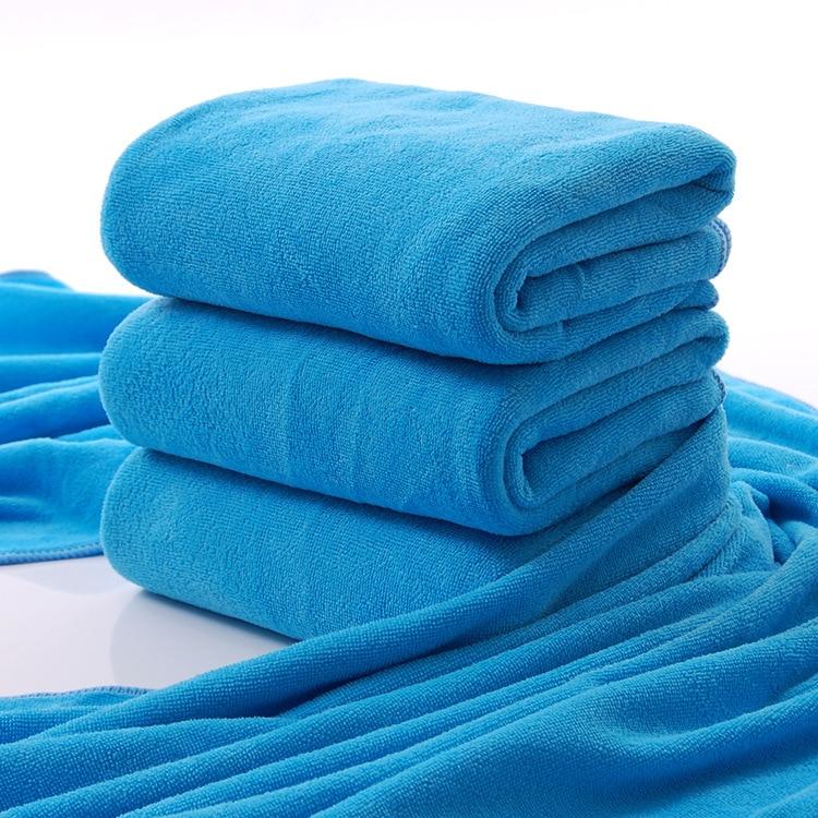 Wholesale Blue 60*120cm Microfiber Beach Towel Sanding