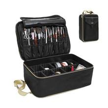 Luxury Brand Suitcase Three-Layer Cosmetic Box Bag Women Beauty Professional Mak