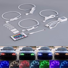 NEW 4*131mm remote control RGB angel eye lights E38 E39 E46 E36 4PCS Seven color remote ange RGB Angel Eyes Lamp Free Shipping free shipping hot sales wholesale e46 e36 12v 24v price angel eyes lamp super white angel eyes projector lens kit in good market