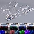 NUEVO 4*131mm control remoto RGB ángel lights eye E38 E39 E46 E36 4 UNIDS Siete ange remoto de color RGB Angel Eyes La Lámpara Libre gratis