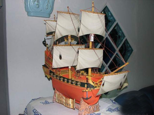 free shipping paper model Black Pearl Pirates of the Caribbean ship model kit 3D paper puzzle toy children gift