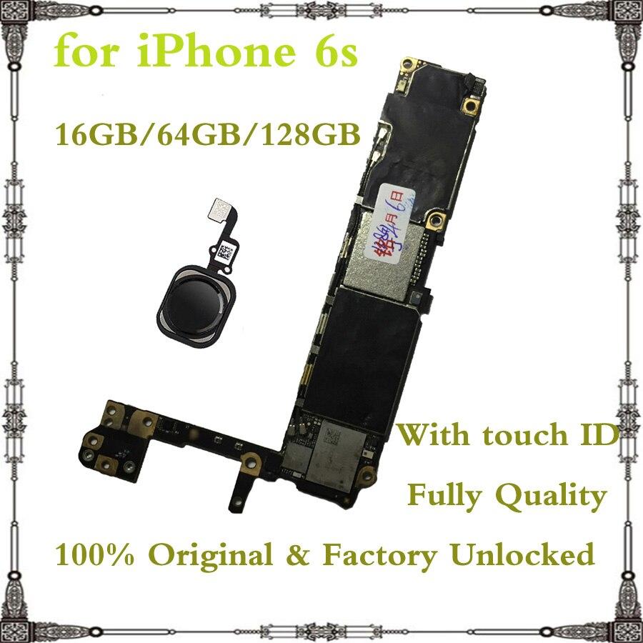 Материнская плата для iphone 6s, разблокированная/без Touch ID, 16 ГБ, 32 ГБ, 64 ГБ, 128 ГБ|Антенны для мобильных телефонов| | АлиЭкспресс