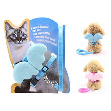New Cute Angel Pet Dog Leashes Collars Set Kitten Puppy Leads For Small Dogs Cats Wing Adjustable Harness Accessories