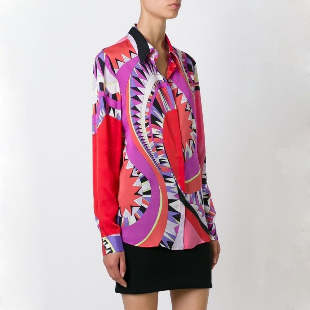 2017 the latest Italian brand fashion knitting slim plus size printing long sleeve shirt