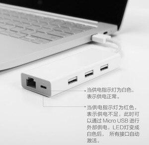 Image 5 - Xiao mi orijinal mi USB3.0 Gigabit Ethernet çoklu adaptör USB RJ45 ağ kablosu arabirim yüksek hızlı USB Splitter dizüstü
