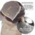 5*4.5 Superior de Seda Pelucas Llenas Del Cordón Con Rayita Natural Profunda Base de Seda Del Pelo Humano Brasileño Virginal rizado Pelucas Para Negro mujeres