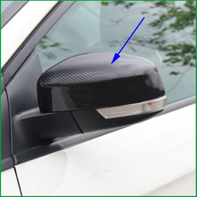 Для Ford Focus MK3 2017-2012 АБС карбоновая краска АБС черная наружная Боковая дверь заднего вида зеркальная крышка Накладка автомобиля-Стайлинг авто запчасти