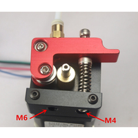 3D printer MK8 extruder Right way full metal aluminum alloy1.75mm/3mm filament Compatible with Reprap Makerbot printer