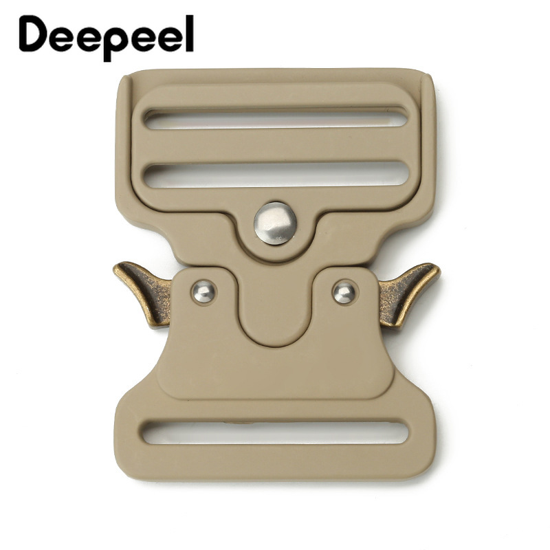 Deepeel 1pc50mm Metal Strap Belt Buckle Outdoor Quick Release Buckles Adjustable DIY Bag Clothes LeatherCraft Hardware Accessory