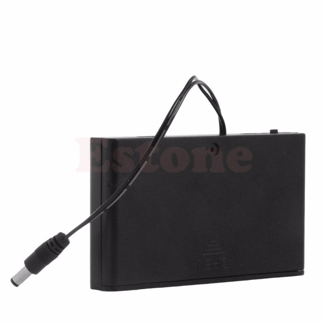 12V 8 AA Cells Battery box Clip Holder Box Case Cover ON/OFF Switch ...