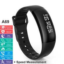 A69 Smart Wristbands 24H Automatically Heart Rate Blood Pressure Monitor Pedometer Speed Measurement Activity Tracker Bracelet