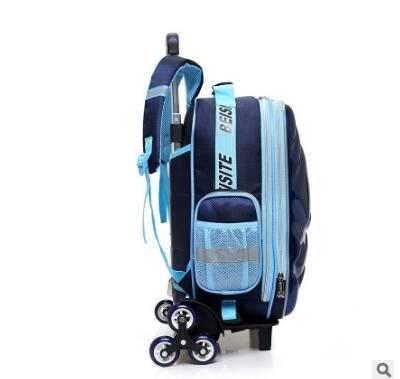 Bagaj ve Çantalar'ten Okul Çantaları'de 3D erkek arabası Çantası okul çocukları için Haddeleme Çanta tekerlekler çocuk Seyahat Çantası 6 tekerlekler okul Arabası Sırt Çantası'da  Grup 2