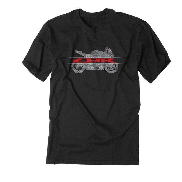 T-shirt preto CBR 600 900 929 954 1000 RR camisa dos homens Da Equipe de Corrida de MotoGP