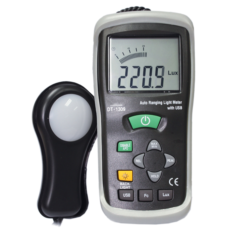 Illuminance meter With the USB interface Brightness test DT-1309 fast arrival victor illuminance meter vc1010b meter meter lumens tester illuminance meter brightness table