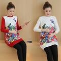 Мода Весна Осень Вязаный Свитер Материнства Зима Средней длины Пуловеры Одежда для Беременных Беременность Одежда B297