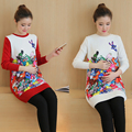 Fashion Spring Autumn Knitted Maternity Sweater Winter Medium-long Pullover Clothes for Pregnant Women Pregnancy Clothing B297