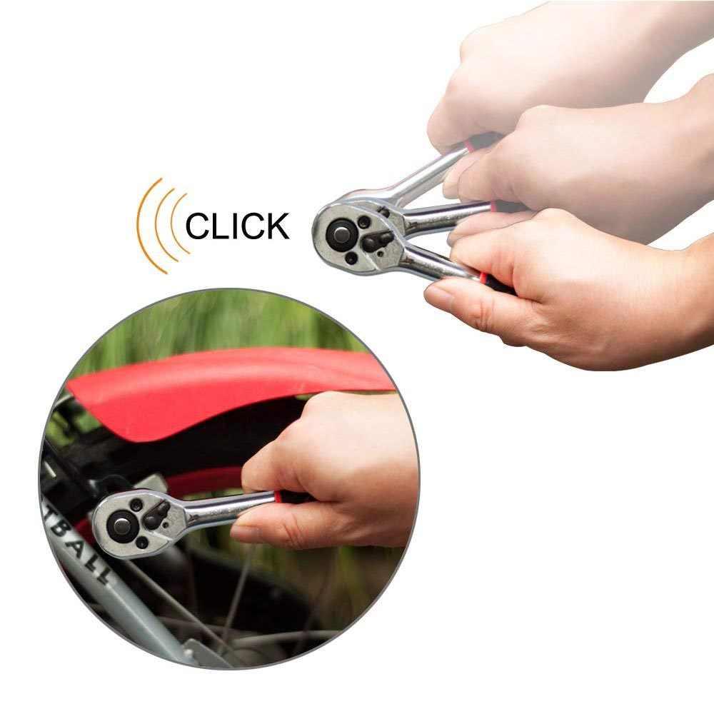 Petpig 1/4 인치 소켓 렌치 세트 자동차 수리 도구 래칫 렌치 스패너 자전거 오토바이 자동차 일반 소켓