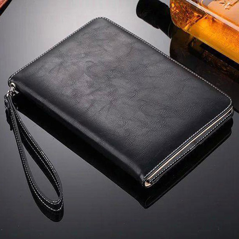 Luxury Leather Case For iPad Air 1 2 Hand Holder Strap Business Book Cover Apple ipad 2017 2018 Smart Protective