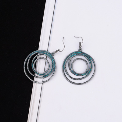Restoring ancient ways ring ears contracted personality metal double the size of the circle exaggerated female and collars in Drop Earrings from Jewelry Accessories