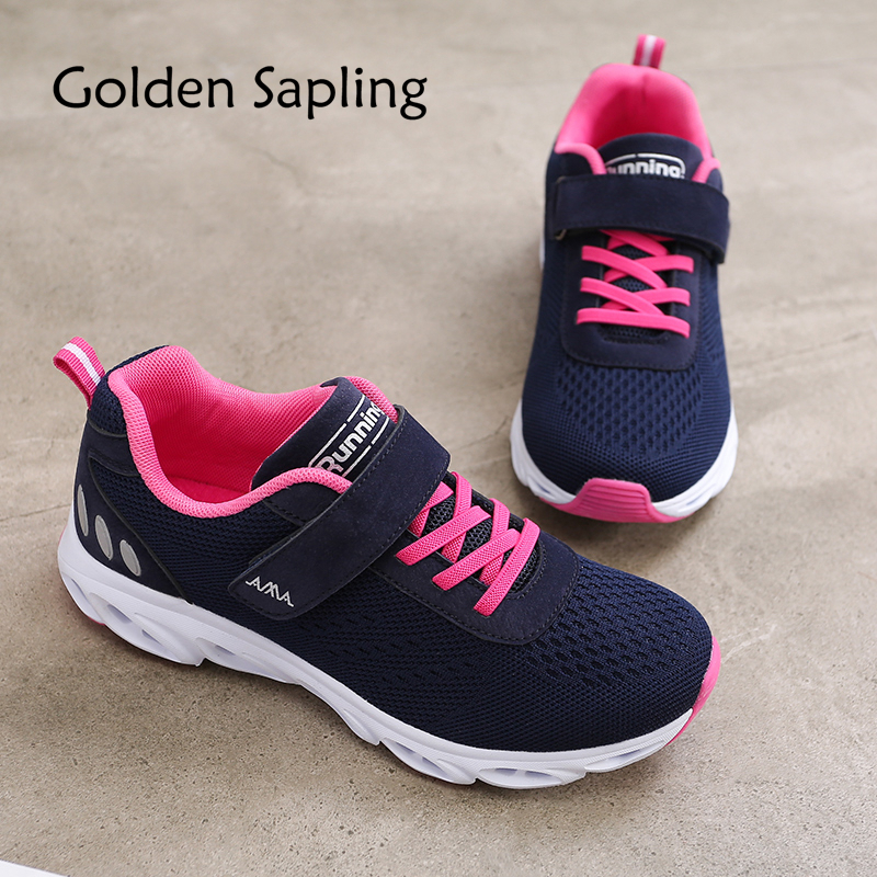 Golden Sapling Ladies Sport Shoes Women's Sneakers Air Mesh Breathable Classic Athletic Womens Running Shoes for Women Sneakers xtep brand breathable running shoes for women light air mesh cushioning professional shoes athletic sport sneakers 983118119066
