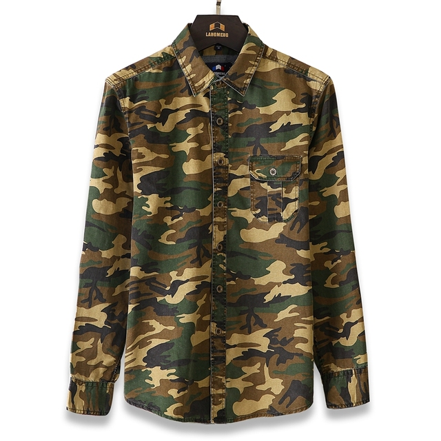 100% Cotton Camouflage Breathable Army Combat casual Shirts  2