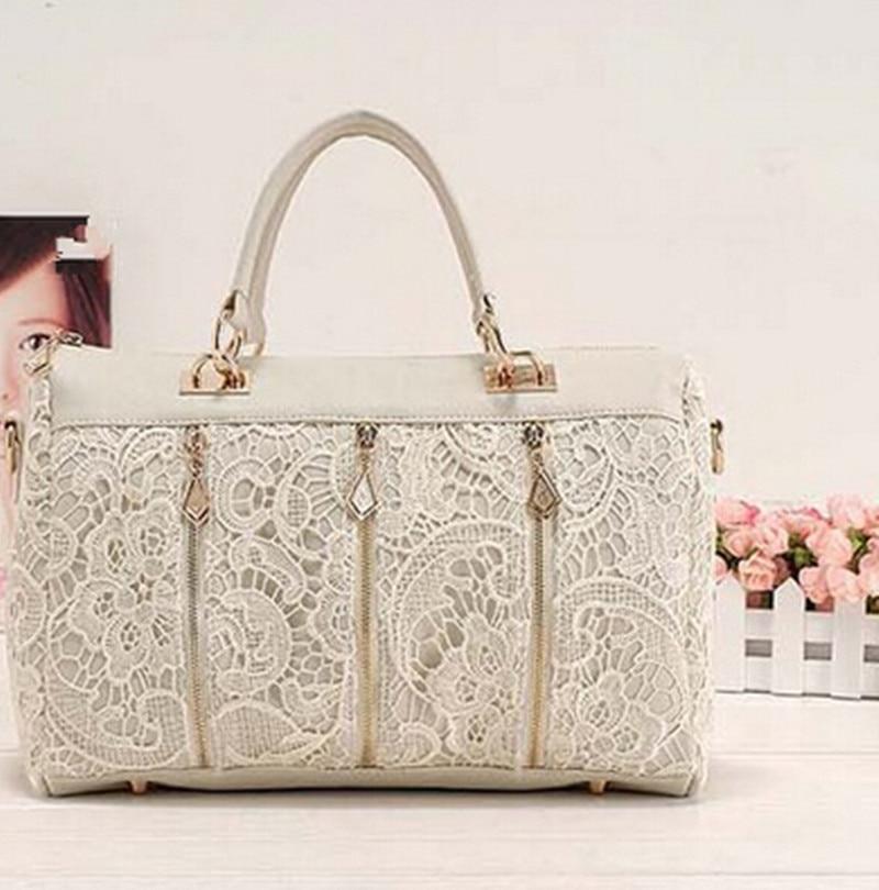 ffb899704d OLGITUM Hot Sale New Fashion 2018 Vintage Lace Handbag Women PU Leather  Tote Shoulder Bag Popular Messenger Bag HB021-in Shoulder Bags from Luggage    Bags ...